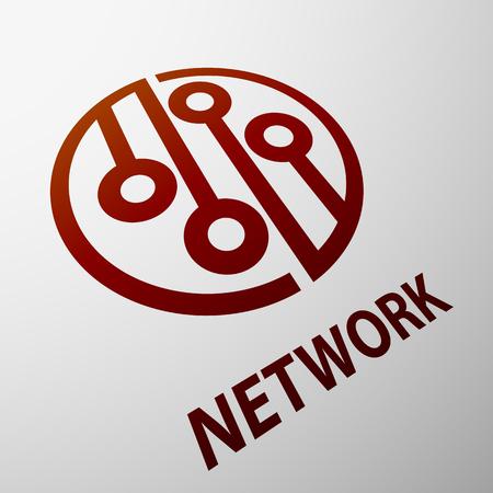 network logo: Logo Network on white background