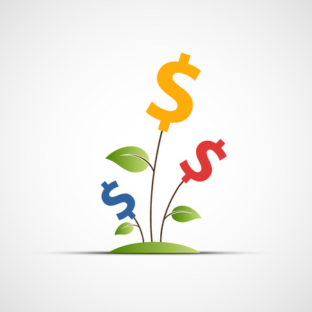 contribution: Plant with a dollar sign