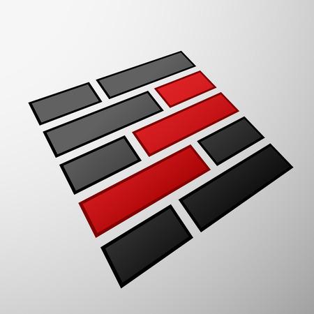 laying: Emblem of the bricks Illustration