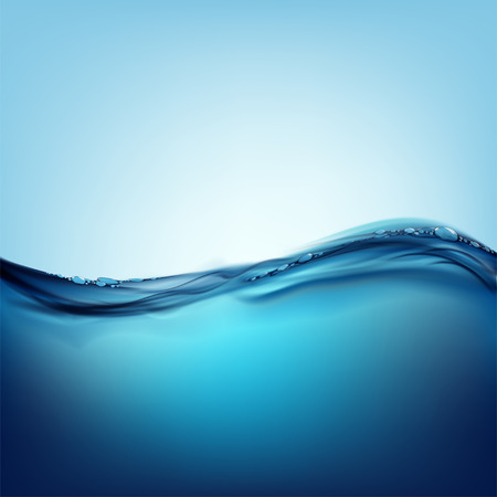 Waves on the water surface Illustration