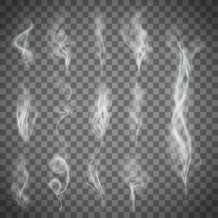 Set of gray smoke Vectores
