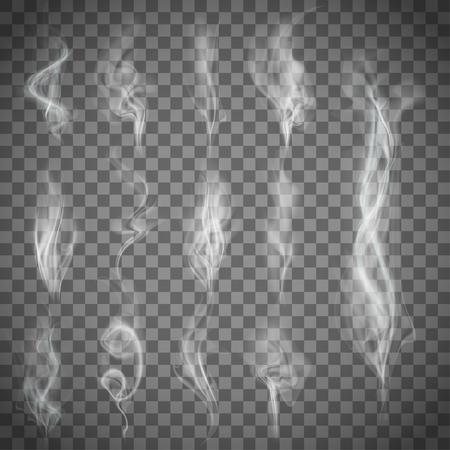 Set of gray smoke Illustration