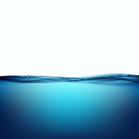 water surface: Water surface isolated on white background
