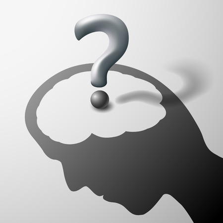 unsolvable: Human head and question mark