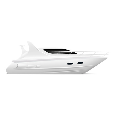 yacht isolated: White yacht isolated on a white background Vectores