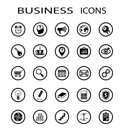 calculator money: Set of business icons. Stock vector image.