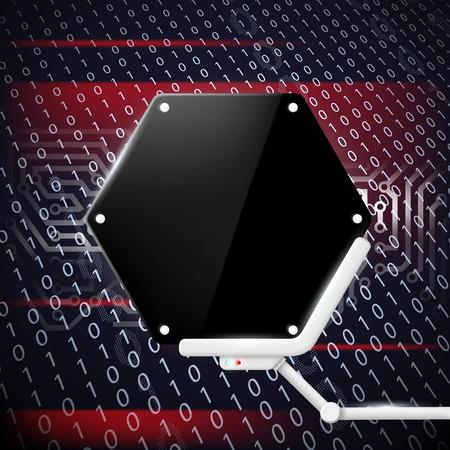 futuristic background: Futuristic screen. Technology background.