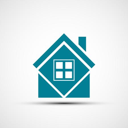 mortgage: Logo real estate. Flat design.
