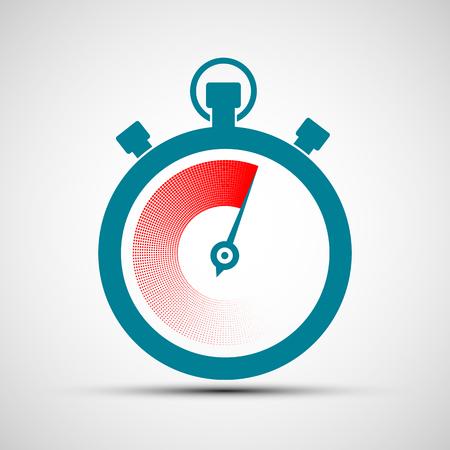 interval: Logo stopwatch. Flat design.