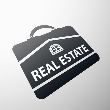 home finances: Logo real estate. Flat design.  Illustration