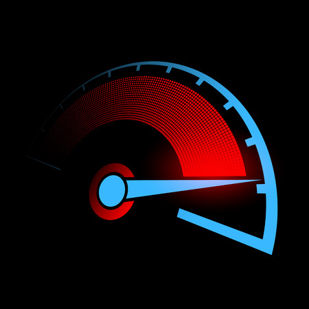 Speedometer of the car.
