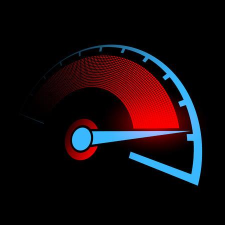compteur de vitesse: Tachymètre de la voiture. Illustration