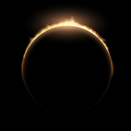 eclipse: Total eclipse of the sun. Illustration
