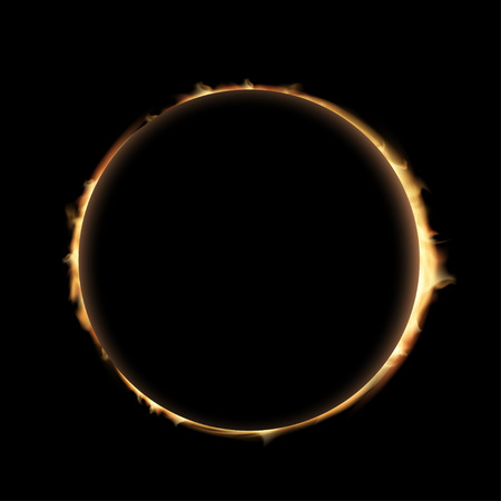 prominence: Total eclipse of the sun.  Illustration