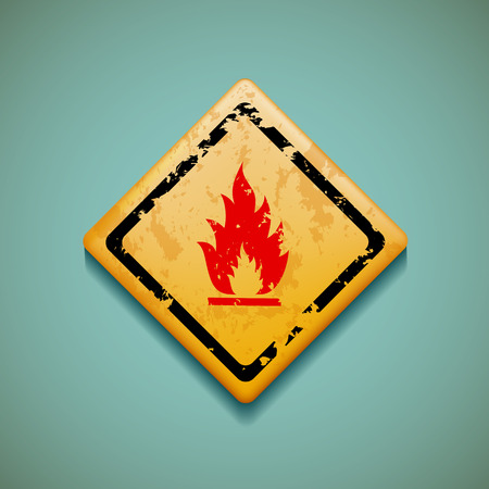 perilous: Warning sign Flat design.