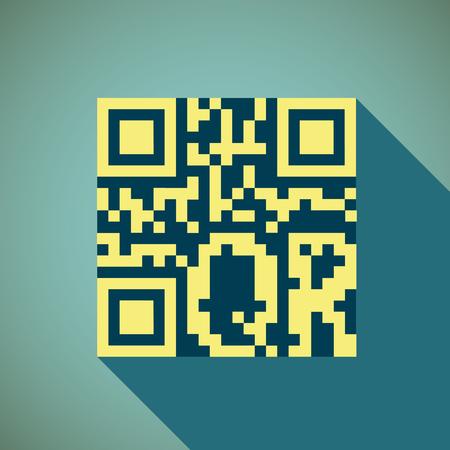 gr: Emblem gr code. Flat design. Stock vector illustration.