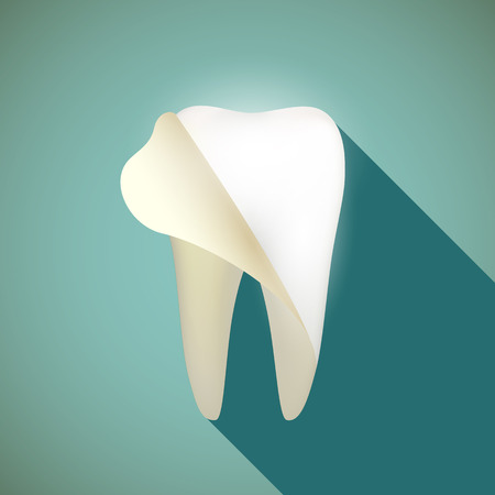 whitening: Whitening human teeth. Flat design.