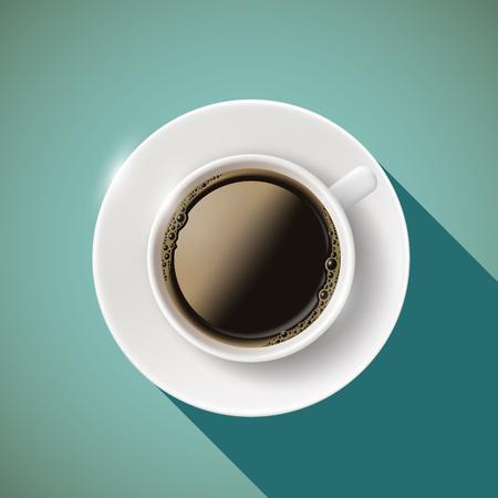 커피 아이콘 컵. 재고 벡터 일러스트 레이 션.
