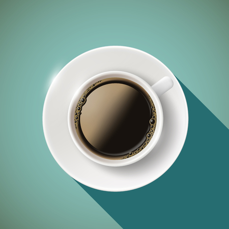 Icon cup of coffee. Stock vector illustration. Illustration