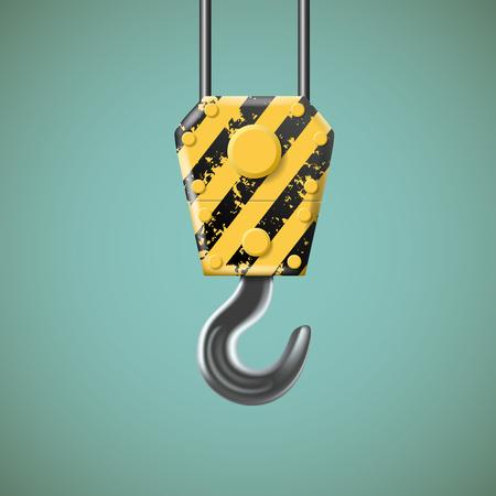 slings: Lifting hook Industry icon.