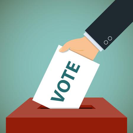 ballot paper: Human hand with a ballot paper.