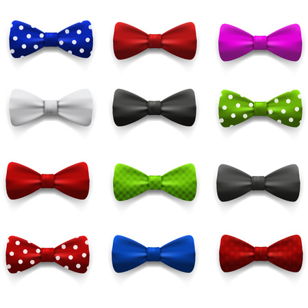 obsolete: Set of multicolored bow tie.