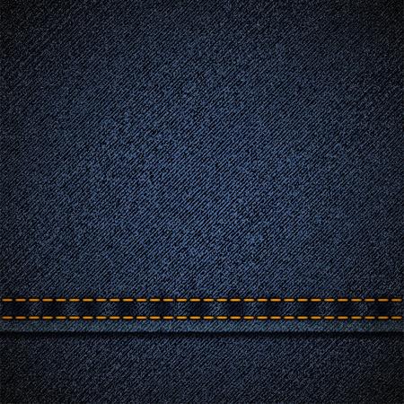 Achtergrond van de blauwe denim. Vector Illustratie