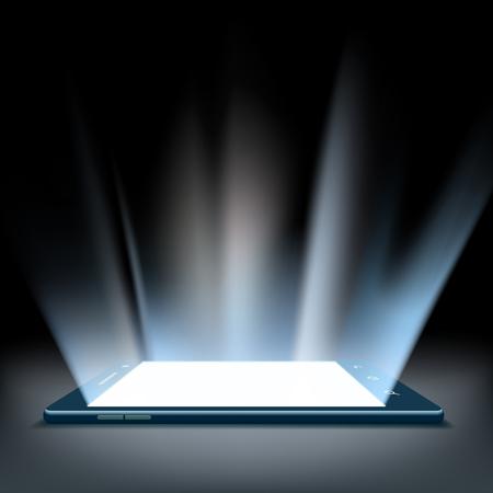 hologram: Smartphone with a hologram screen Illustration