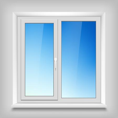 white window: Plastic white window.