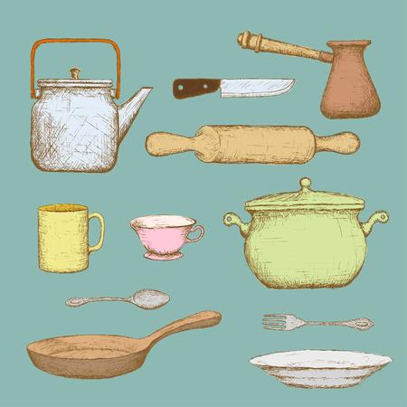 ustensiles de cuisine: Set d'ustensiles de cuisine.