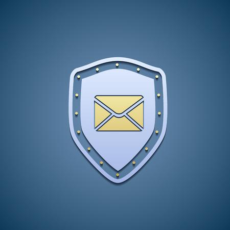 envelope icon: Icon of shield with envelope.