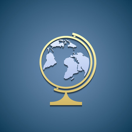 globe  the terrestrial ball: Icon of globe. Illustration