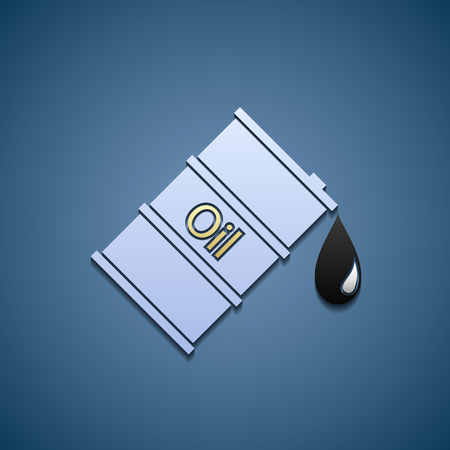 stock listing: barrel of oil icon Illustration