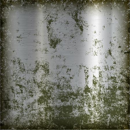 Metal polished plate. Old grunge background. Ilustração
