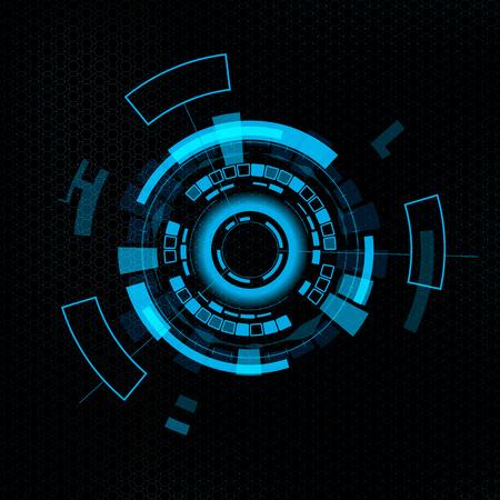 virtual reality simulator: Futuristic user interface HUD. Abstract background.