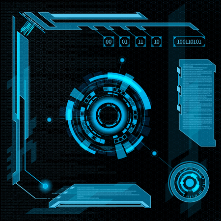 Futuristic user interface HUD. Abstract background. 版權商用圖片 - 50100135