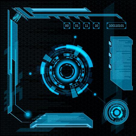 Interface utilisateur futuriste HUD. Abstrait arrière-plan. Vecteurs
