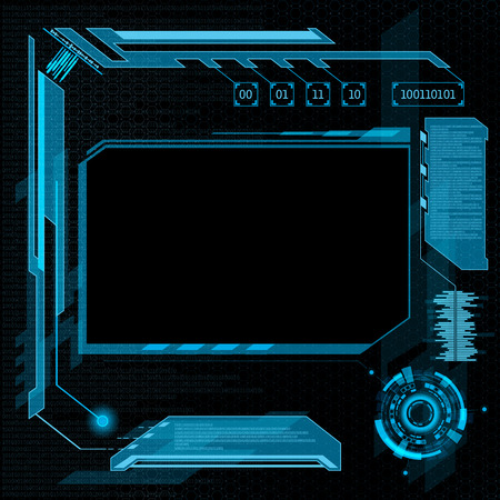 inteligencia: Interfaz de usuario futurista HUD. Resumen de antecedentes. Vectores