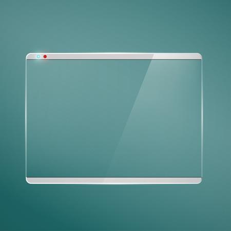 Transparent glass futuristic screen.