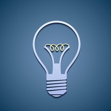 incandescent: Icon of incandescent lamp. Illustration