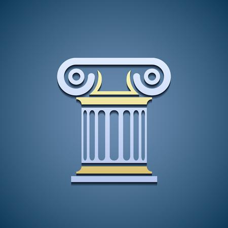 roman pillar: marble column. Flat graphics.