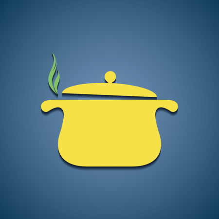 cast iron: pan for cooking icon Illustration