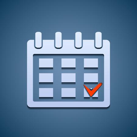 calendar icon: Calendar icon with the mark.