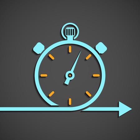 El símbolo de cronómetro. El emblema del cronómetro. gráfico plano. Ilustración vectorial material.