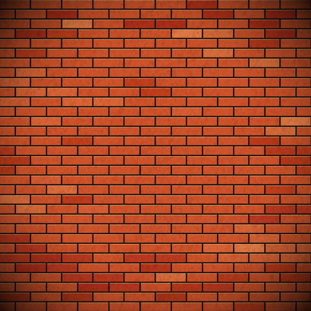 Wall of red brick. Texture of the building material. Stock vector image. Illustration