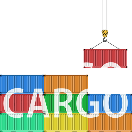 viewport: Containers for transportation of cargo. Stock vector illustration. Illustration