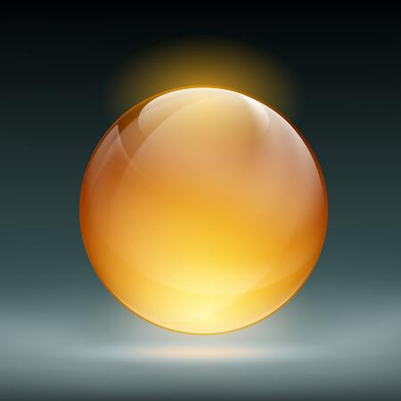 adivino: Esfera de cristal transparente para la adivinaci�n. Ilustraci�n vectorial material.