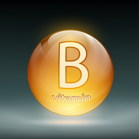 magnesium: Icon vitamin B in the form of pills. Stock vector illustration.