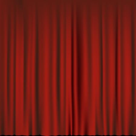 velvet texture: Texture red velvet curtain. Stock vector illustration. Illustration