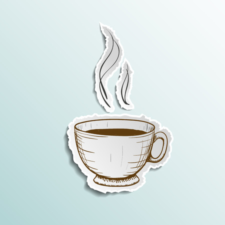 Icon cup of coffee. Stock vector illustration.